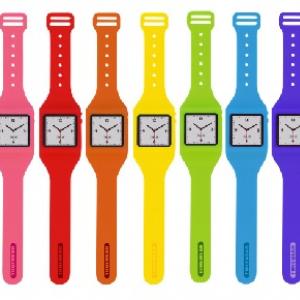『iPod nano』を腕時計に! 腕時計型シリコンケース全9色のラインナップで発売