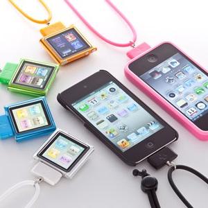 『iPhone/iPod』のDockコネクターに装着して使うネックストラップ『DockStrap Neo』