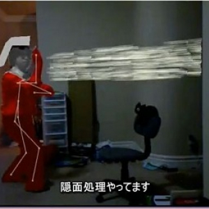 XBOX360のジェスチャー認識デバイス『Kinect』でウルトラセブンに変身する 動画