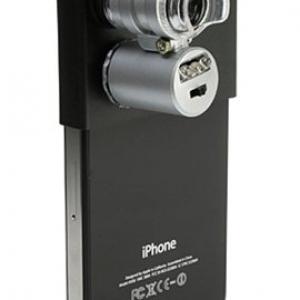 『iPhone 4』でお肌や頭皮をチェック!? 『iPhone 4用 LED付きマイクロスコープ』