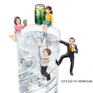 """遠藤部長はフィギュアになっても目ヂカラすごすぎ! ビール事業部の崖っぷち3人が""""コップのフチ子""""に"""