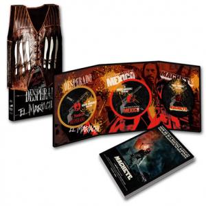 映画『マチェーテ』のブルーレイBOXは主人公のベスト型スリーブと『エル・マリアッチ』3部作が付いてくる豪華版