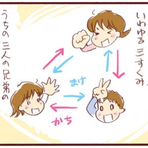週末連載漫画「うらららら!」~三すくみ