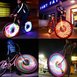 夜間走行にイルミネーション 自転車ホイール用LEDライト『MONKEY LIGHT』