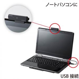 ノートPCに装着可能 HD720ワイドスクリーン対応のウェブカメラ『CMS-V32シリーズ』