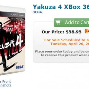 『龍が如く4』がXbox360でも発売される!? 海外サイトで4月発売と書かれる